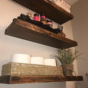 222 Fifth Acacia 32 Inch Floating Wall Shelf Bed Bath Beyond Floating Wall Floating Wall Shelves Wall Shelves