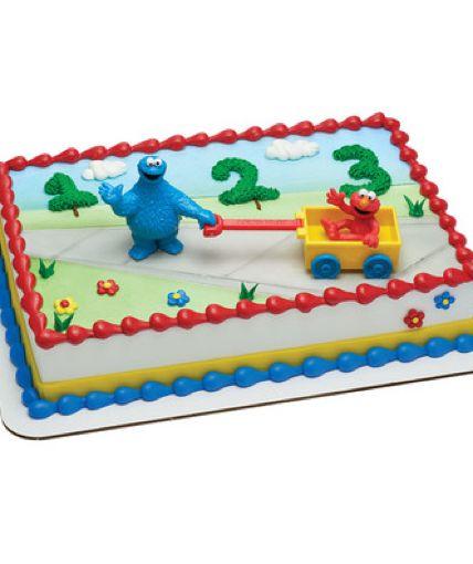 Sesame Street Let S Play 19021 Elmo Cake Elmo Birthday Cake Monster Cookies