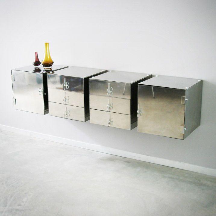 Vittorio Introini cabinet components for Saporiti