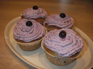 Blåbærmuffins med blåbærskum, glutenfrie