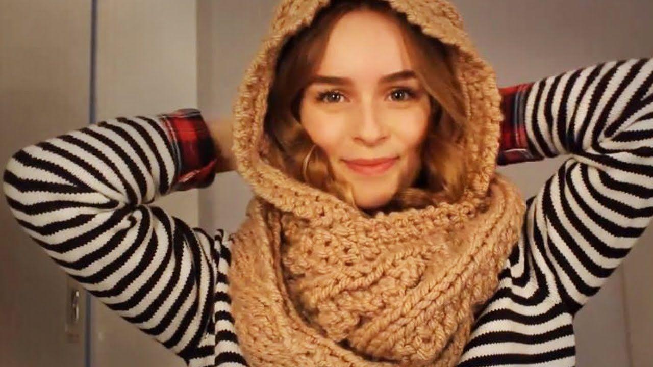Photo of  DIY  Schal mit Kapuze stricken – Kapuzenschal – Schlauchschal – hooded scarf