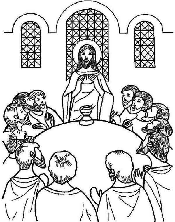 The Last Supper Coloring Page : Kids Play Color em 2020