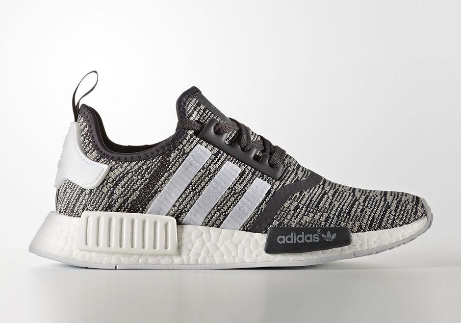 Adidas Nmd R1 Glitch Camo Women S Release Sneakernews Com Black Nike Shoes Adidas Women Womens Nmd