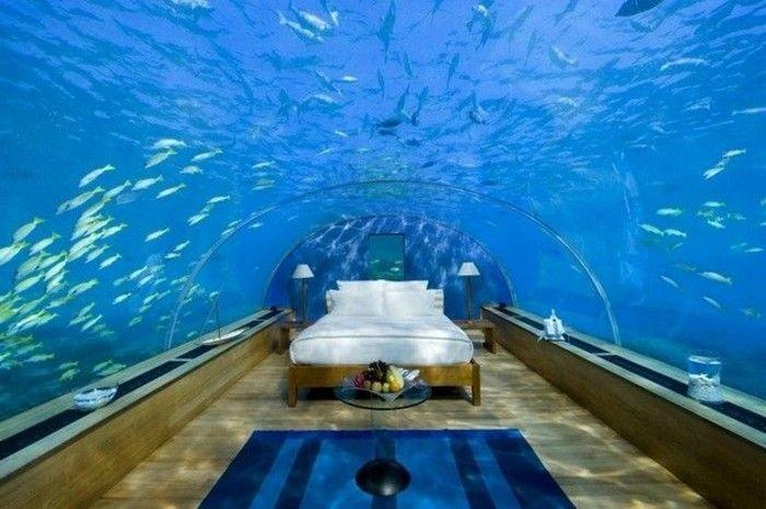 l aquarium mural en 41 images inspirantes chambre pinterest villa villa de luxe et chambre. Black Bedroom Furniture Sets. Home Design Ideas
