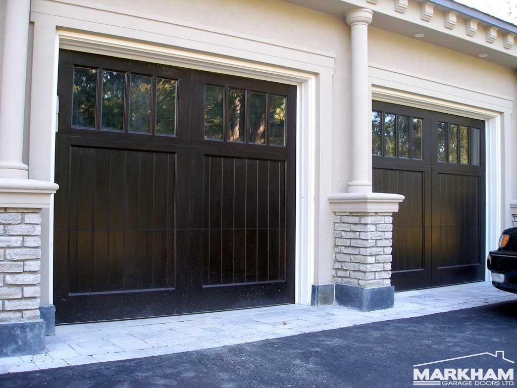 Beautiful Gunstock Walnut Garage Doors