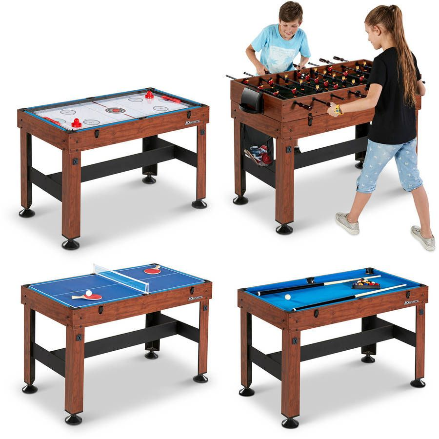 """MD Sports 54"""" 4 in 1 Combo Game Table, Accessories"""