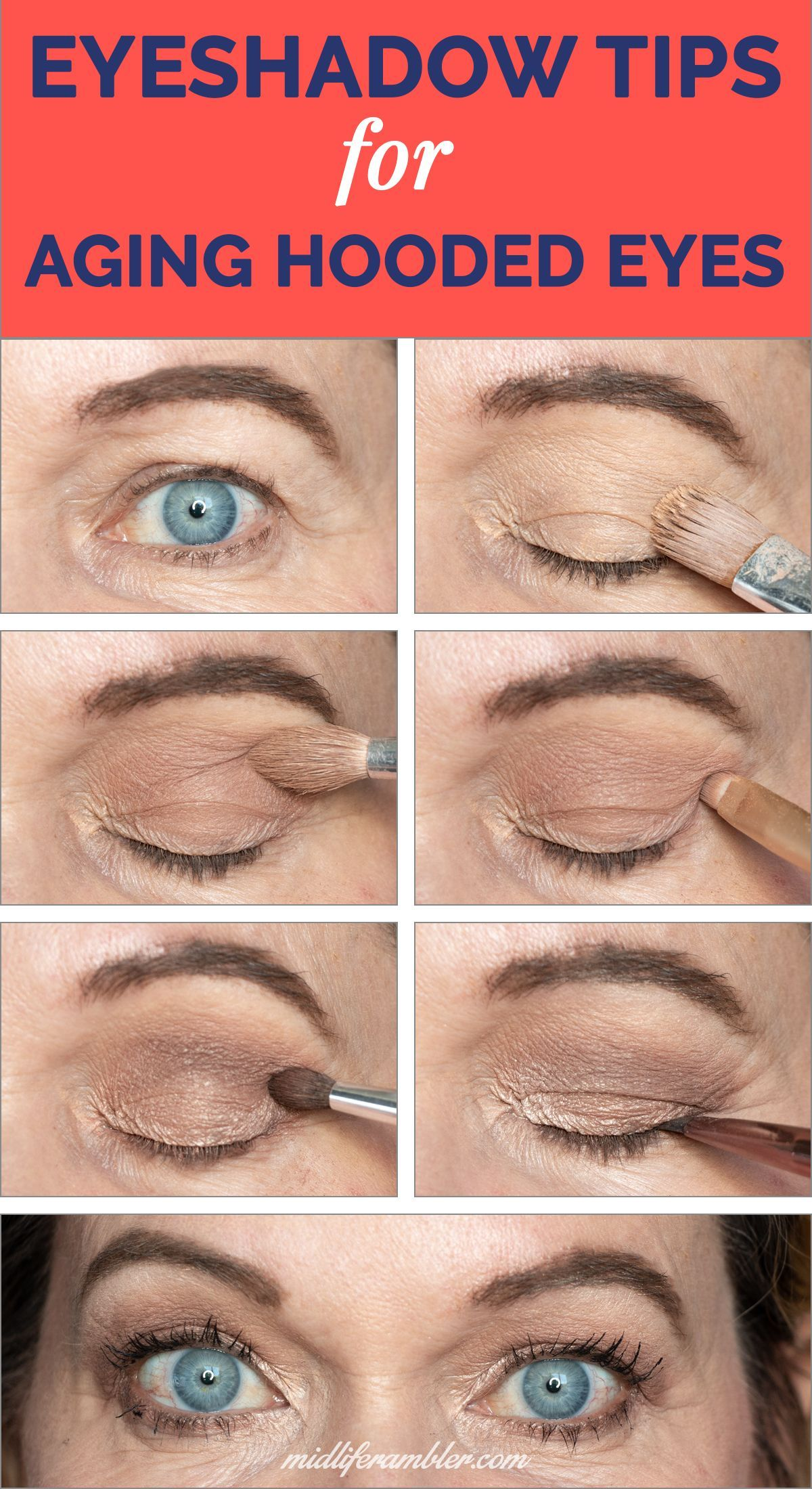 Struggling with eye makeup for your aging, hooded, droopy eyes