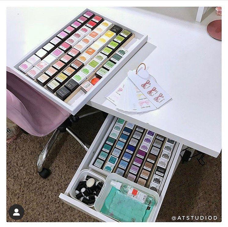 Organizemore On Instagram Wow These Mini Ink Trays Are So Bright And Colorful Atstudiod Thanks For The Inspiration Coupon Codes Coding 10 Things