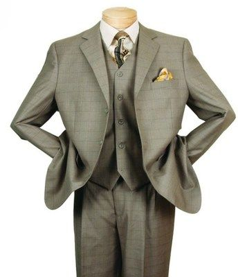 3-Button Window Pane Vested Suit by Vinci V3RW-2 - Divinity Clergy Wear | www.divinityclergywear.com