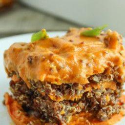 Spicy Vegan Sweet Potato Casserole #sweetpotatocasserole