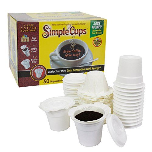 Disposable Cups For Use In Keurig Brewers Simple 50 Lids And Filters Your