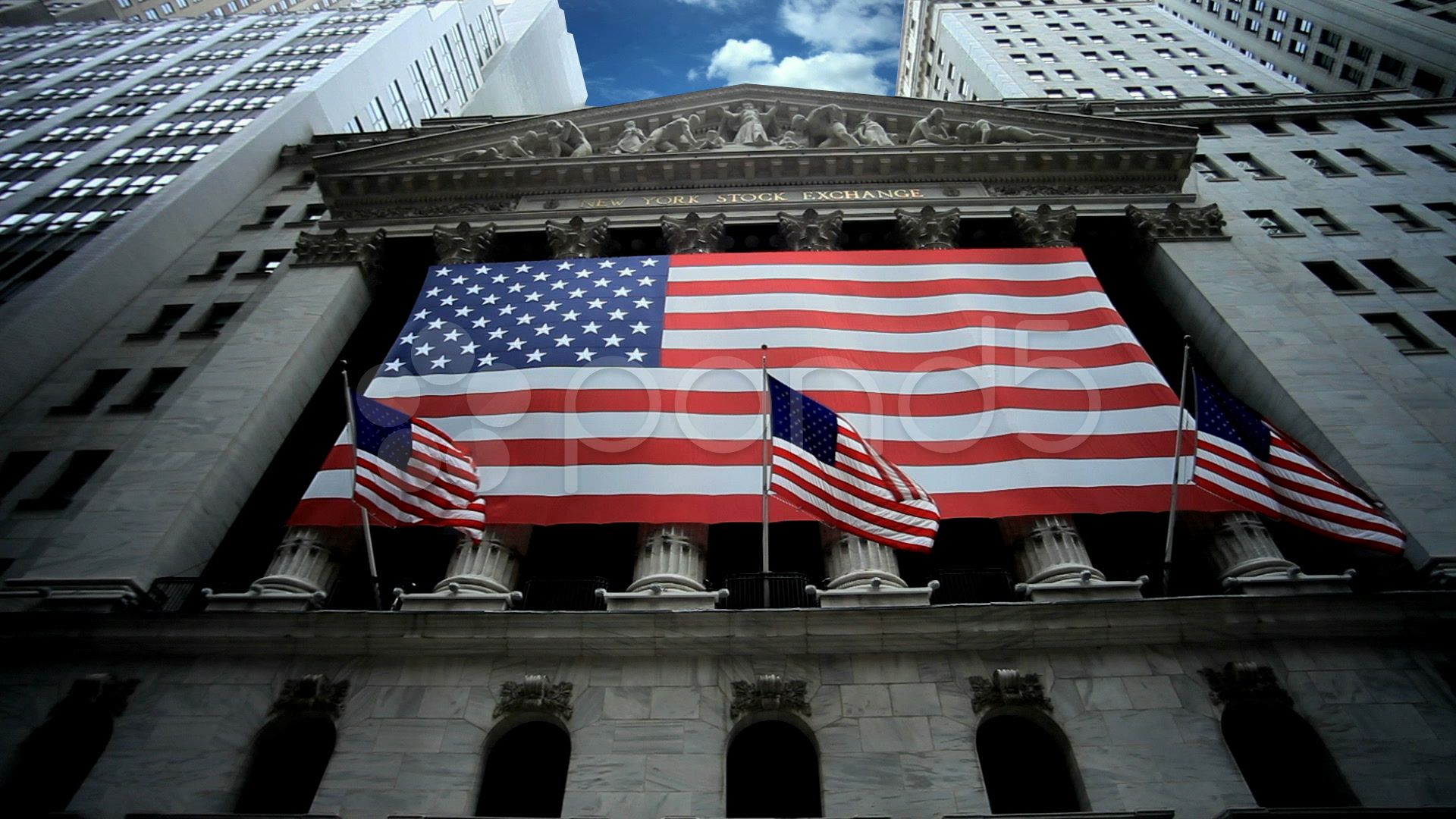 New York Stock Exchange With American Flag In Manhattan Nyc Usa Stock Footage Exchange American York Stoc Stock Exchange Own Business Ideas Home Improvement