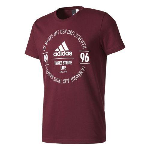 Details zu adidas Logo Tee T-Shirt Tee rot Sportshirt Funktionsshirt  Trainingsshirt Herren