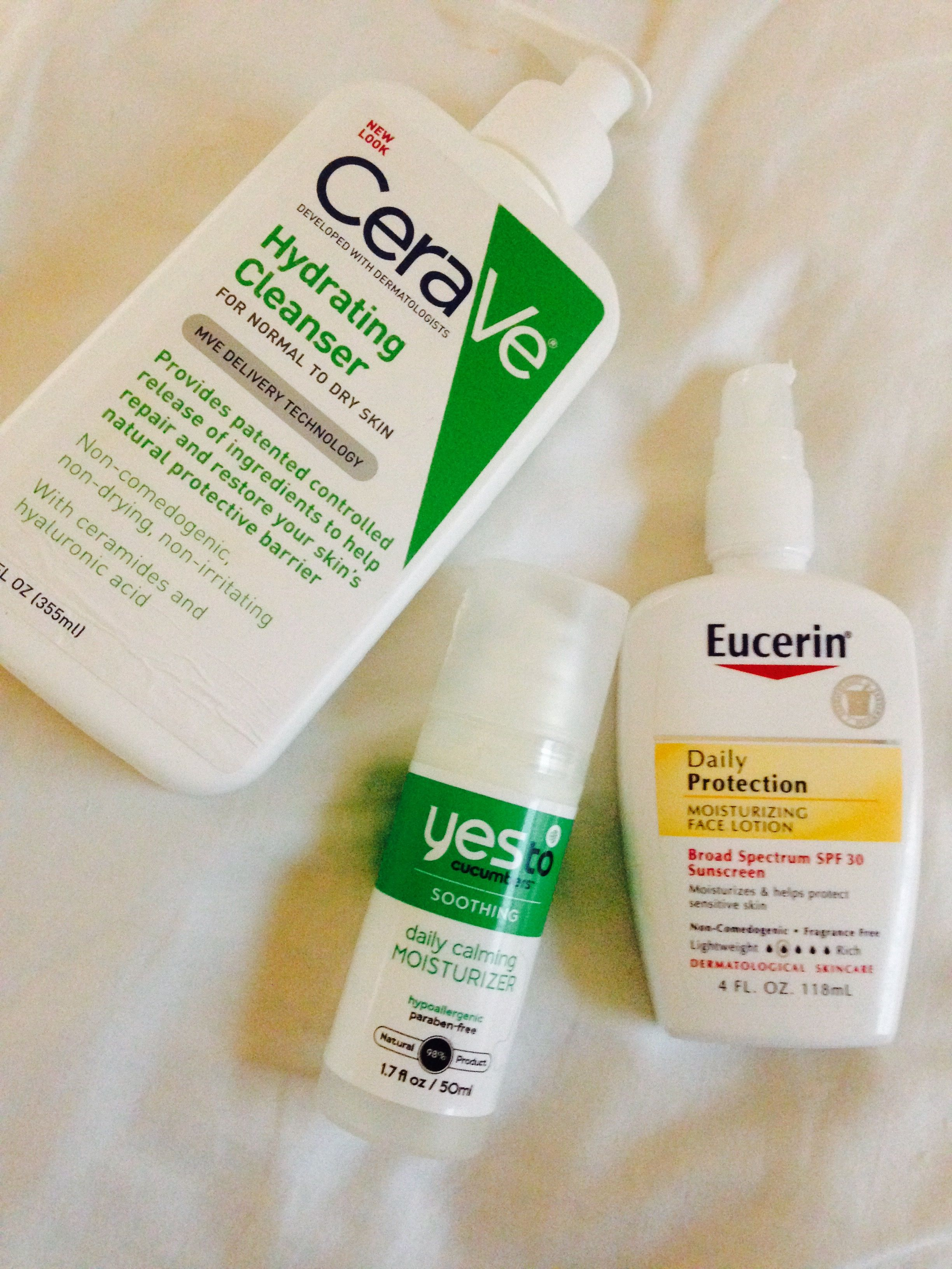 My morning face routine for my dry sensitive acneprone skin