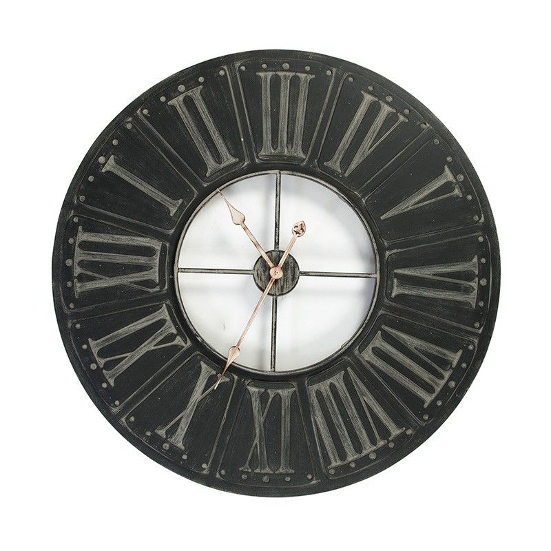 80cm Wood Decor Wall Clock Roman Numerals Modern Wall Clocks