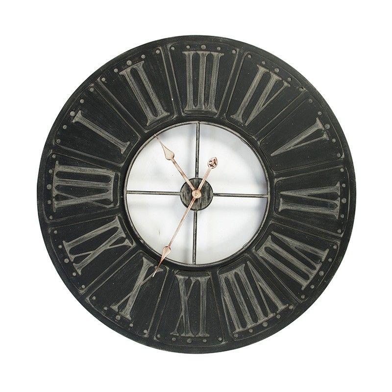 80cm Wood Decor Wall Clock Roman Numerals Modern Wall Clocks