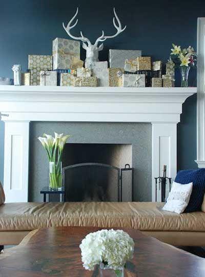 fotos e ideas para decorar la chimenea en navidad
