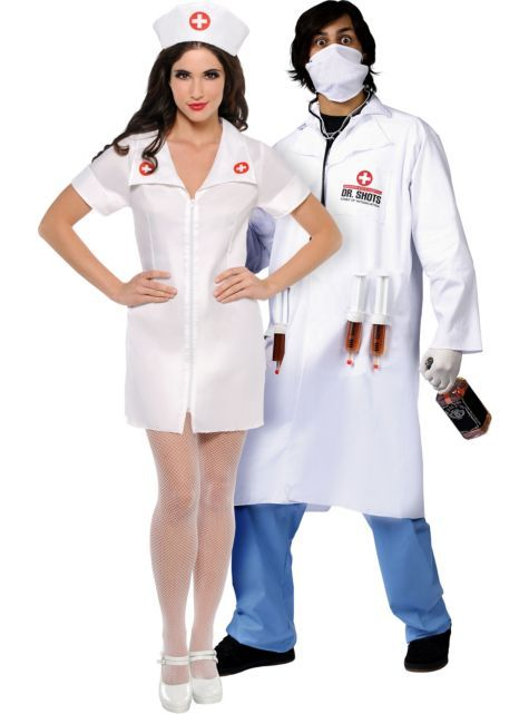 bc40fb388dc04 Hospital Honey Nurse and Dr. Shots Doctor Couples Costumes - Party City  @Party City #costumes #Halloween #matching