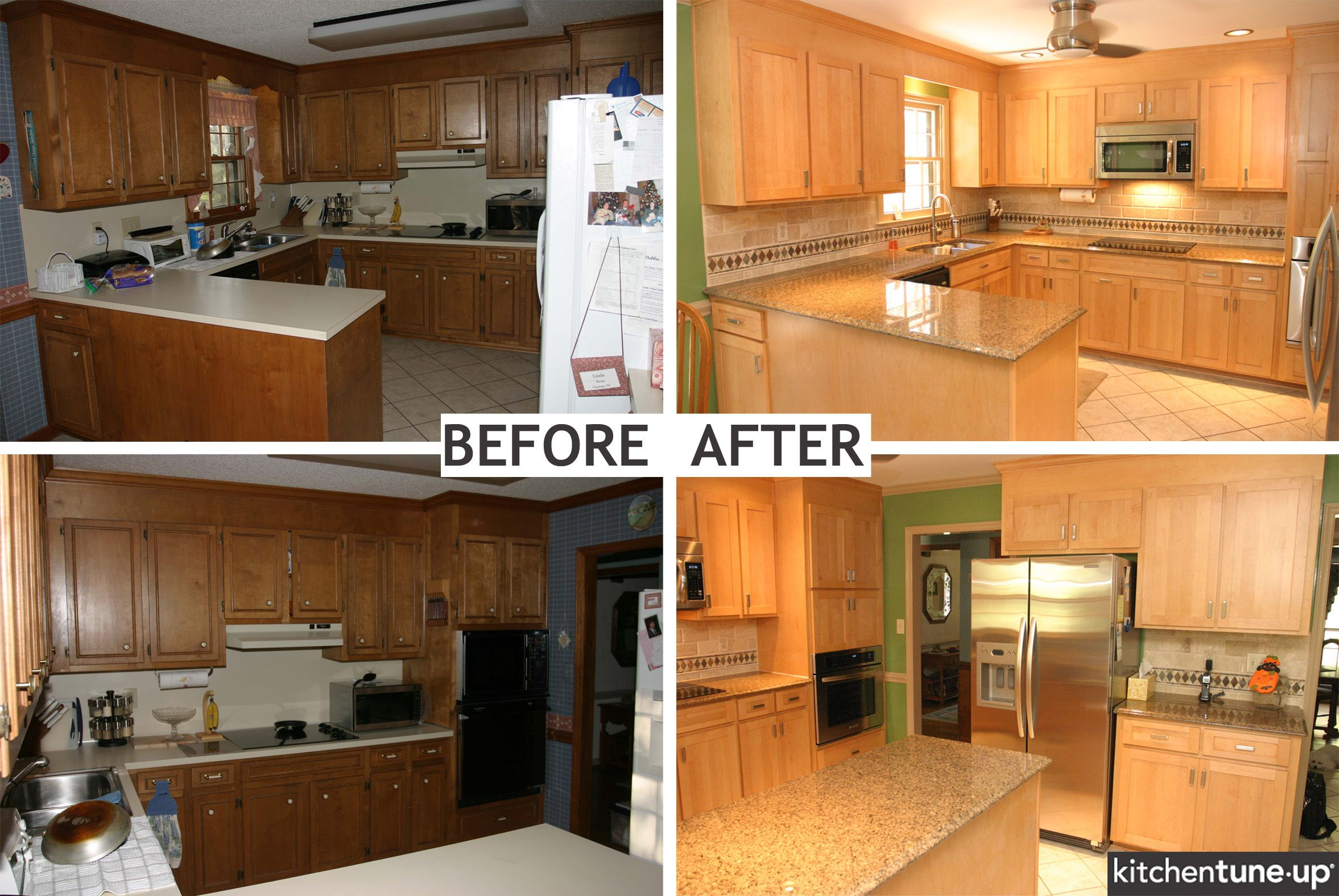 Kitchen Makeovers On A Budget Before And After Refacing Kitchen Cabinet Pictures Before After  Kitchen