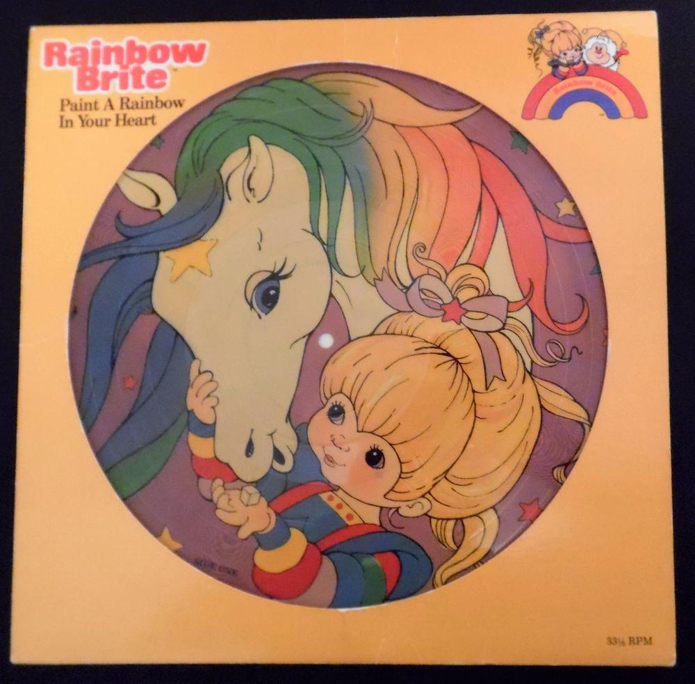 Rainbow Brite Paint a Rainbow in Your Heart Viny LP 1984