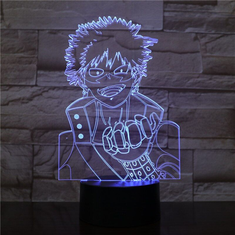 Usb 3d Led Night Light My Hero Academia Midoriya Izuku Figure Boys Child Kids Baby Gifts Japanese Anime Table Lamp Bedside In 2020 3d Led Night Light Led Night Light Japanese Anime