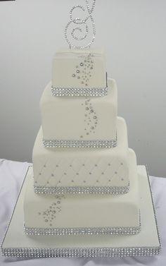 Silver Wedding Cake Ideas Inspirations