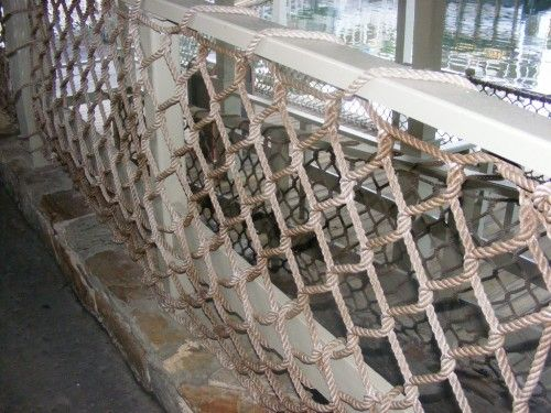 Handrail Netting Polyester Cargo Treated Rope Net 6 Quot Mesh