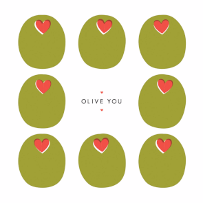 Olive You Happy Anniversary Card Free Greetings Island Happy Anniversary Cards Valentines Day Card Templates Anniversary Cards