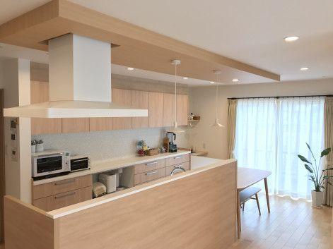 優しい色合いで統一されたキッチン 無印良品の家 キッチンデザイン