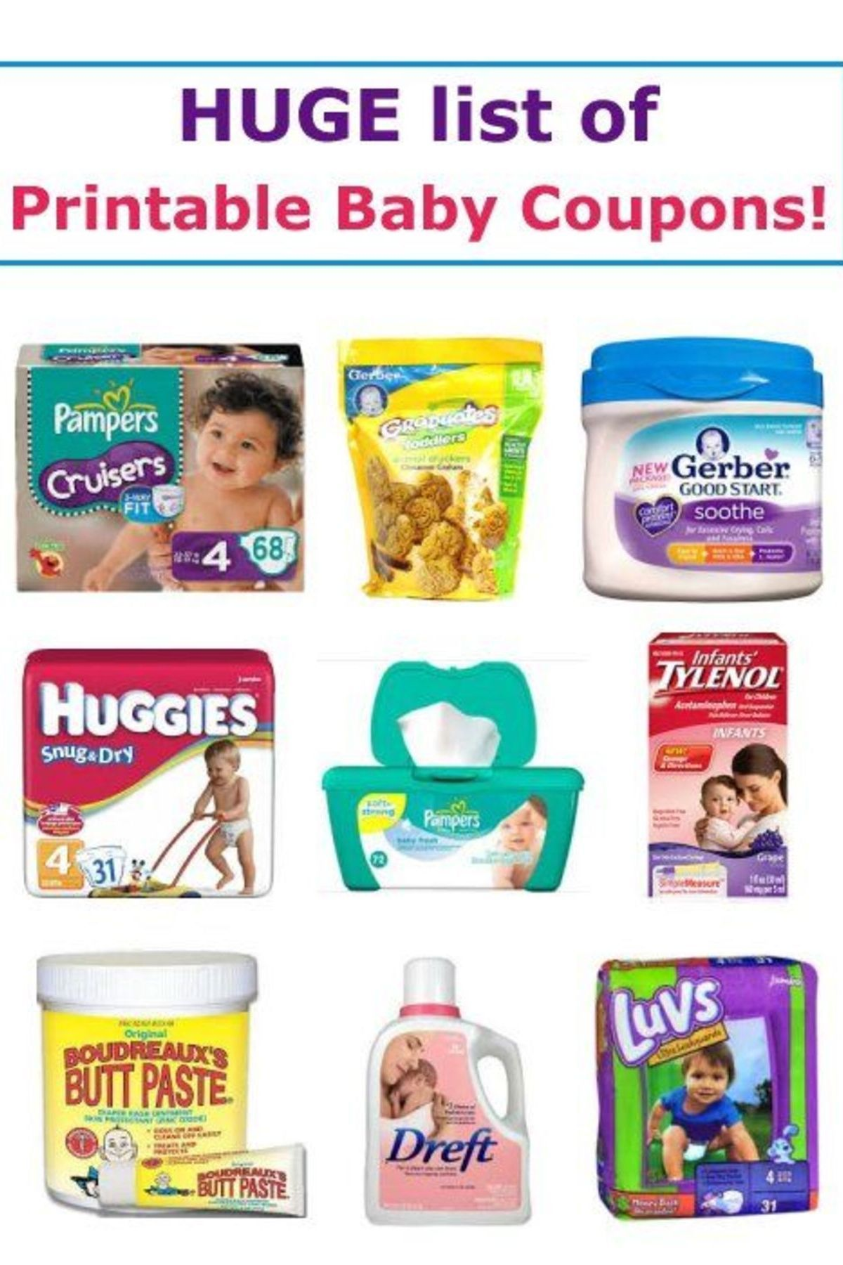 17 Printable Baby Coupons Baby coupons, Diaper coupon