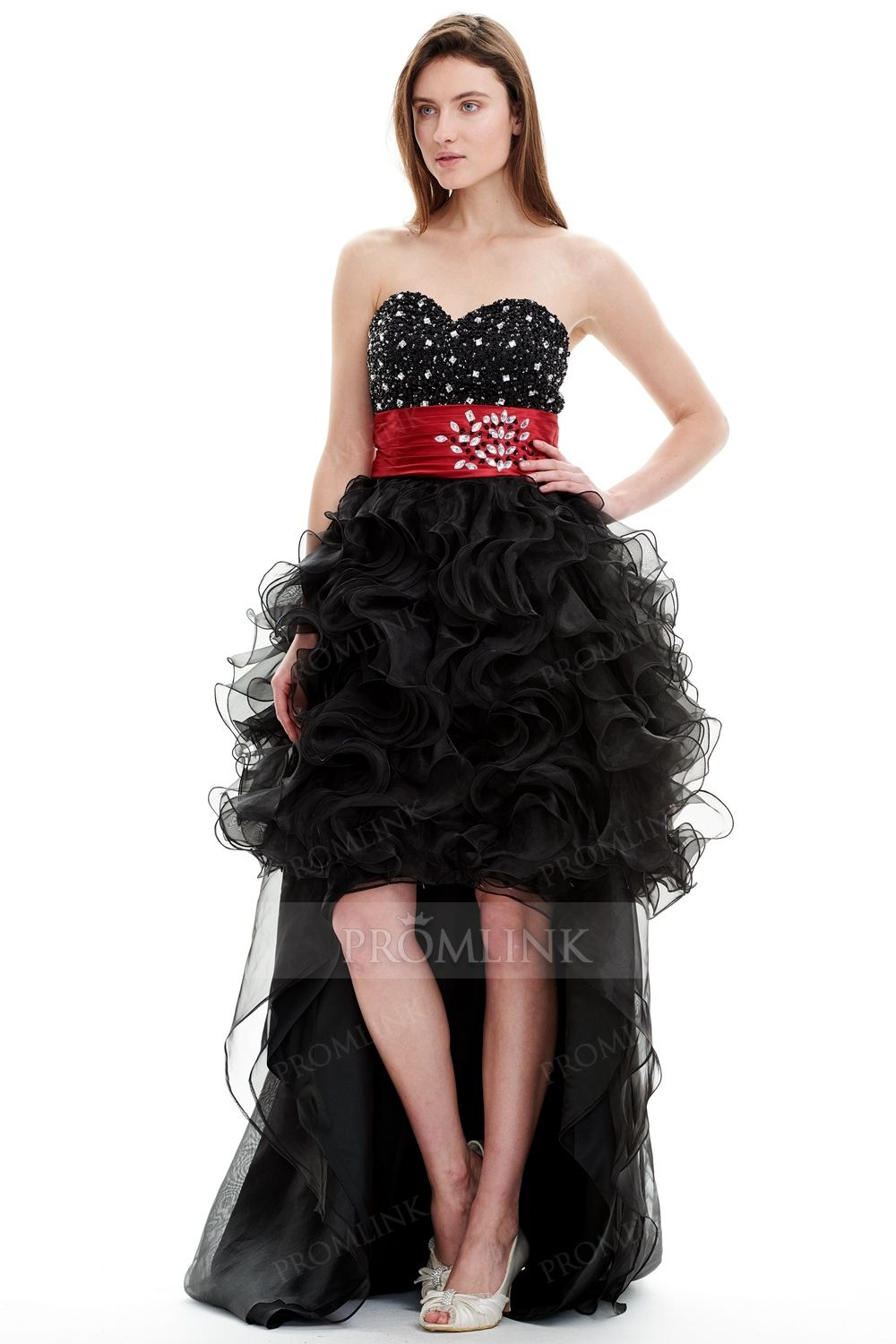 Sweetheart highlow black prom cocktail dress cocktail dresses