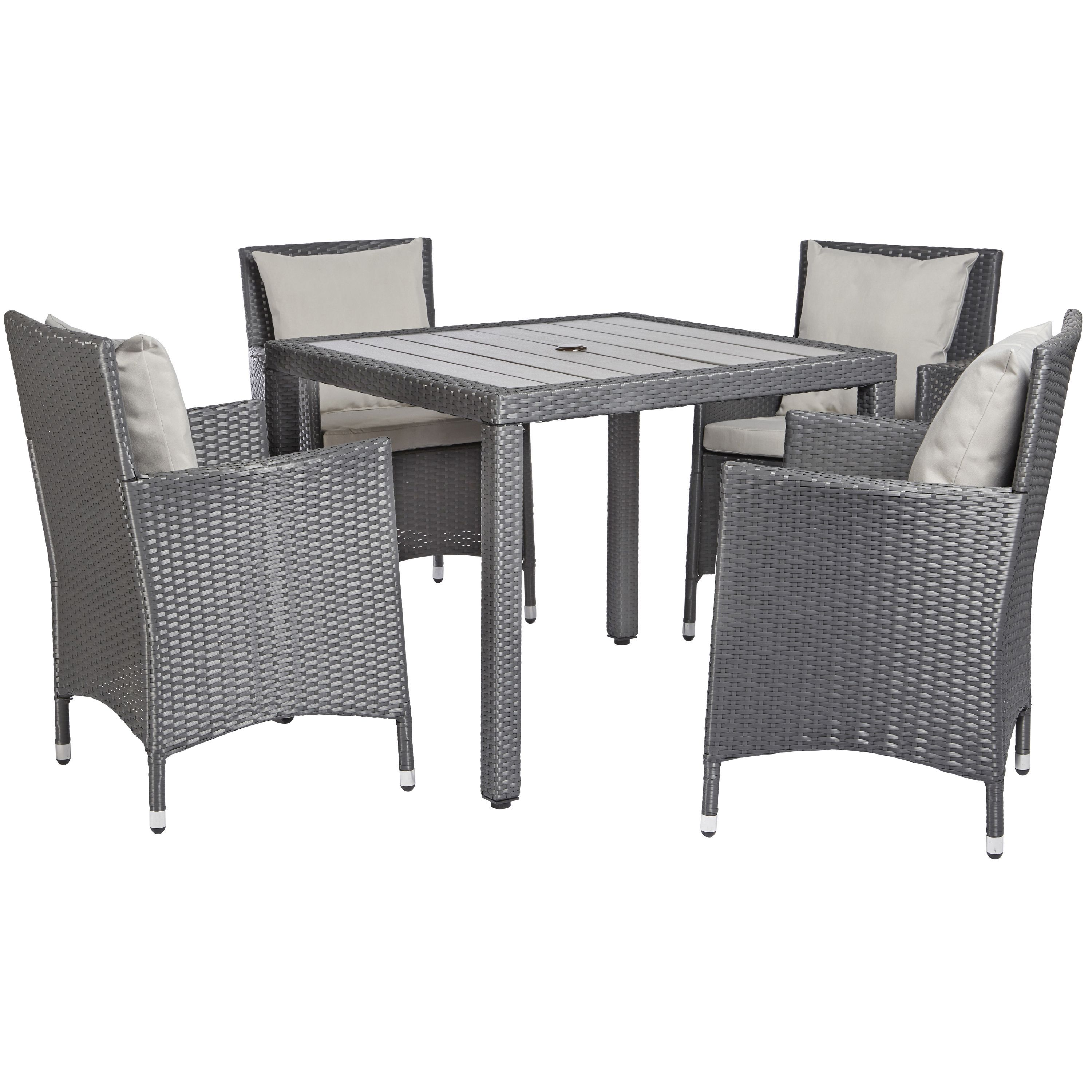 $600 The angelo:HOME 5-piece dining set features a square dining ...