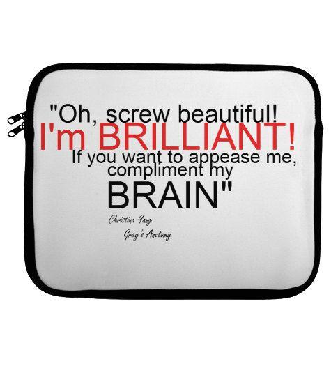 Grey\'s Anatomy Christina Yang quote laptop by FashionableNursing ...