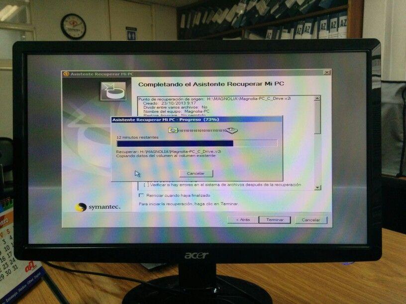 Restaurando un backup completo de un pc. Es importante hacer respaldos completos de la informacion contenida en los PC de nuestra empresa para evitar perdidas de informacion y de tiempo