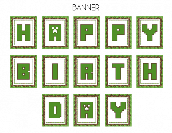 graphic regarding Minecraft Birthday Banner Free Printable named Free of charge Minecraft Bash Printables in opposition to Printabelle Capture My
