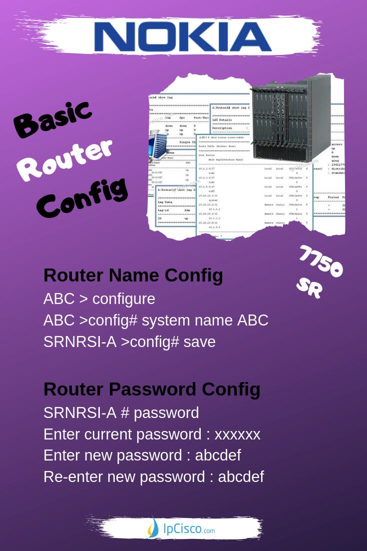 Nokia Basic Router Configuration, How to Configure Nokia