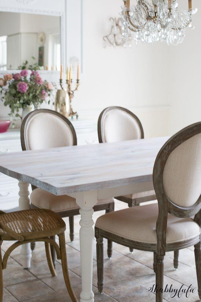 Whitewashing A Farmhouse Table In 30 Minutes