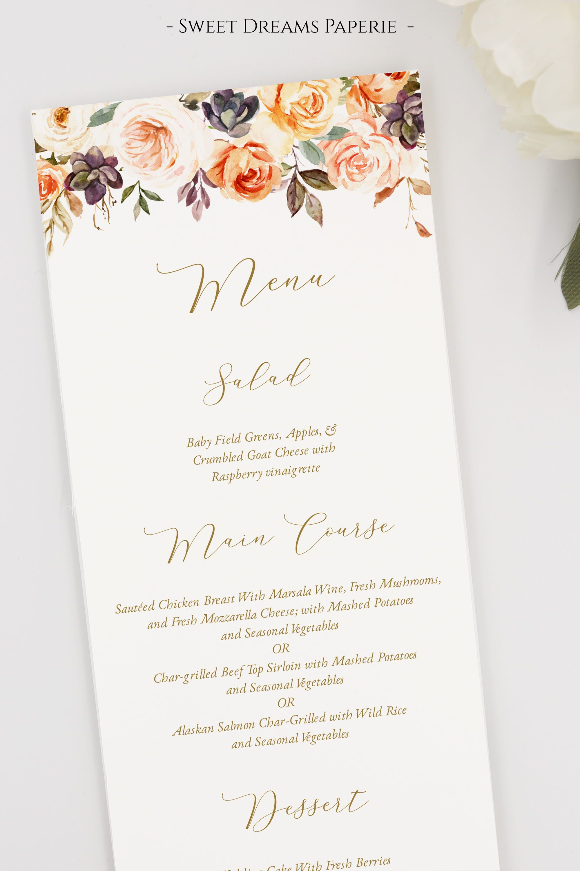 Fall Wedding Menus Autumn Floral Wedding Menu Cards Instant Download Template Diy Editable Madison Suite In 2020 Fall Wedding Menu Wedding Menu Cards Wedding Menu