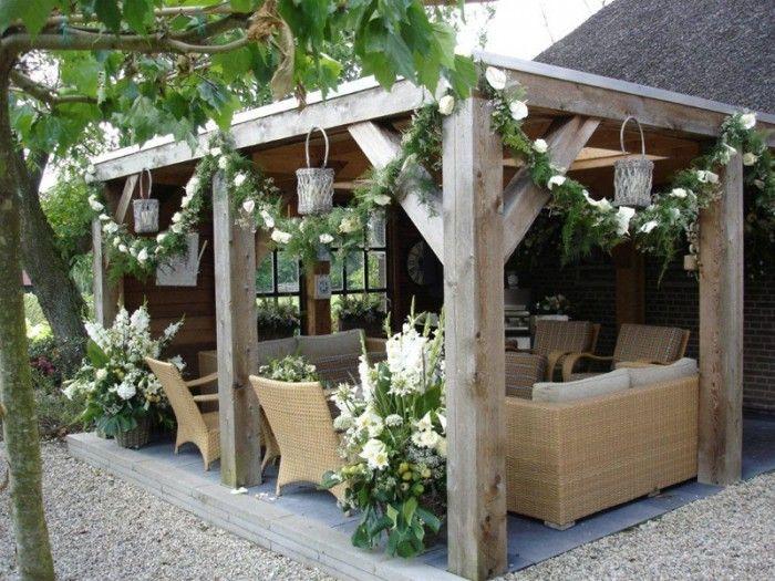 Wunderschöne Idee für eine Terrassenüberdachung #sichtschutzfürbalkon