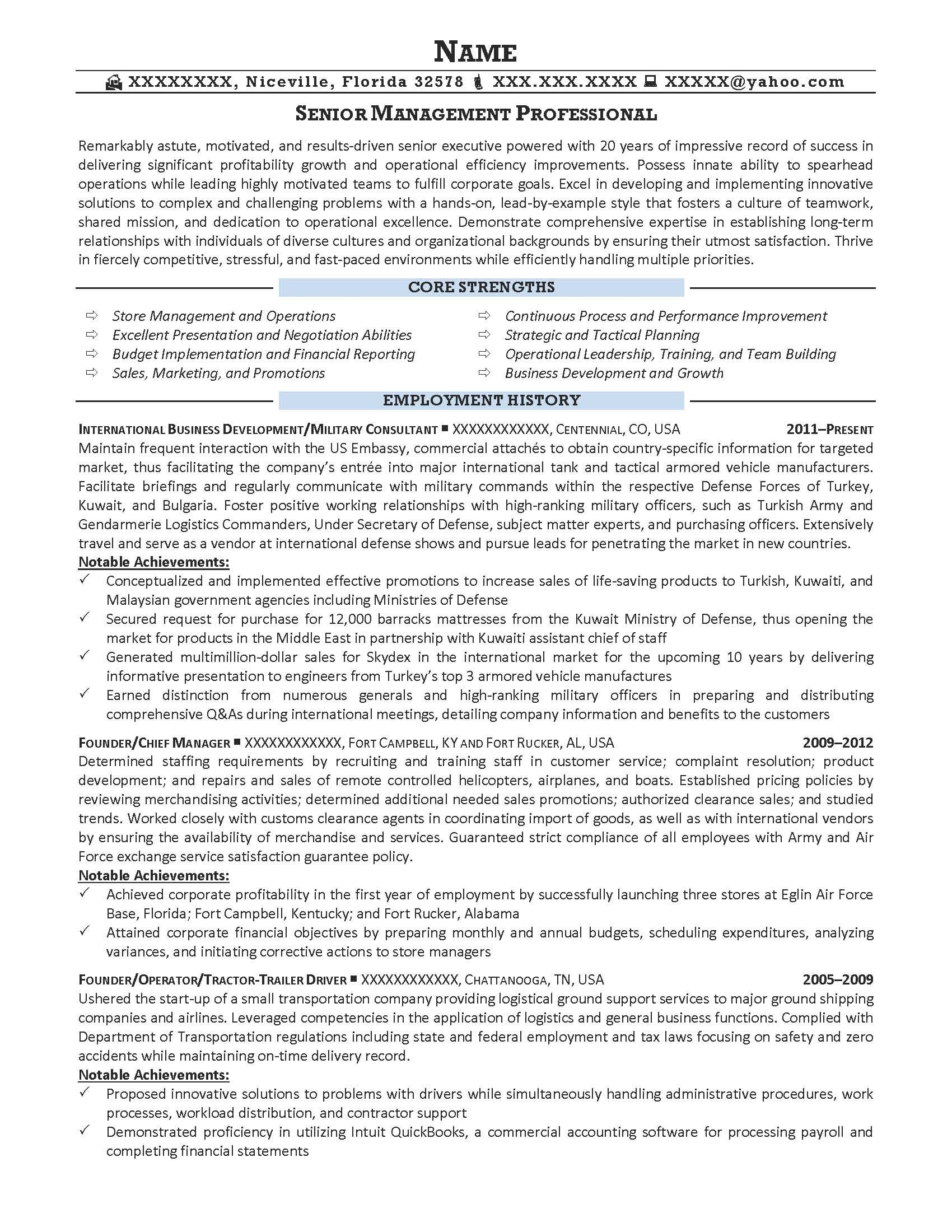 Services For Military Civilian Resume Examples Example Police