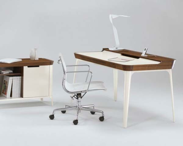stylish work desk for modern home office from kaijustudios 42 gorgeous desk designs for any office - Home Office Desk Design