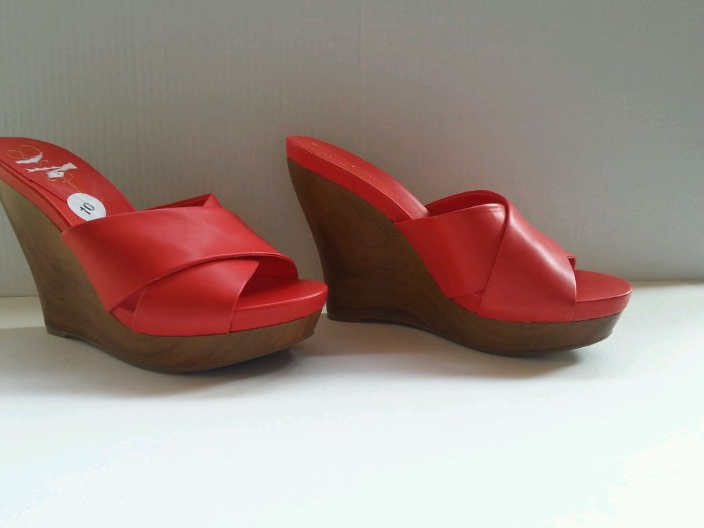 Jessica Simpson Red Hot Wedge Sandal