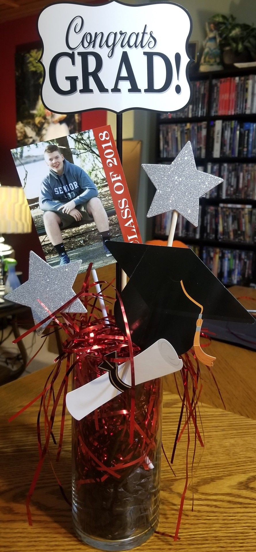 I made these for my sons graduation party. Low budget and ...