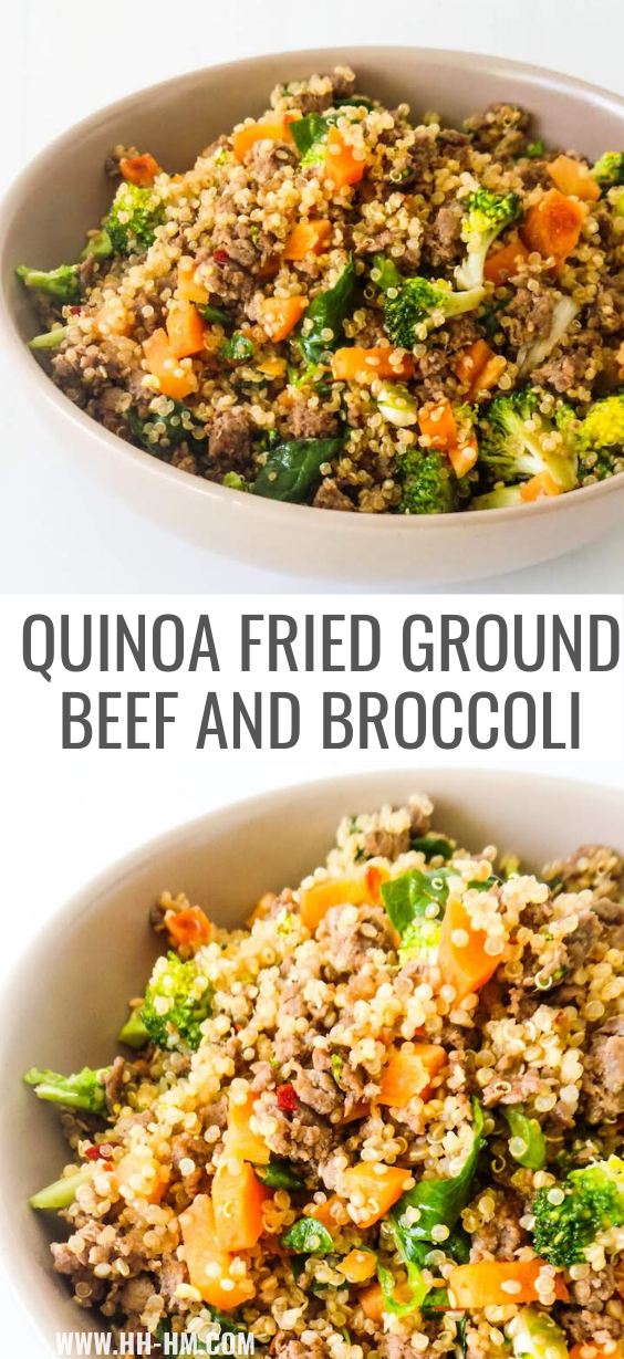 Healthy Ground Beef And Broccoli Fried Quinoa Recipe Her Highness Hungry Me Recipe In 2020 Healthy Ground Beef Healthy Beef Recipes Ground Beef Recipes Healthy