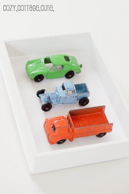 Cozy.Cottage.Cute.: Framed Vintage Cars for Kids Room or Nursery ...