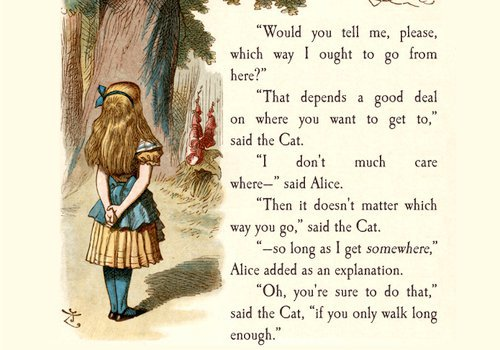 Which Way I Ought To Go From Here 3 This Book Alice And Wonderland Quotes Wonderland Quotes Alice In Wonderland