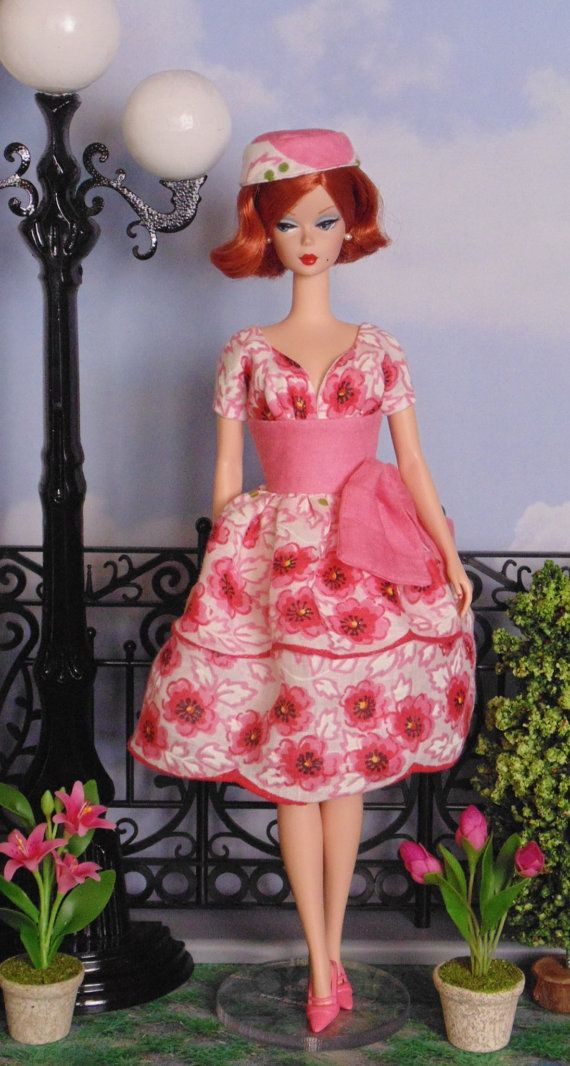 Garden Party Pink dress and hat for Silkstone Barbie