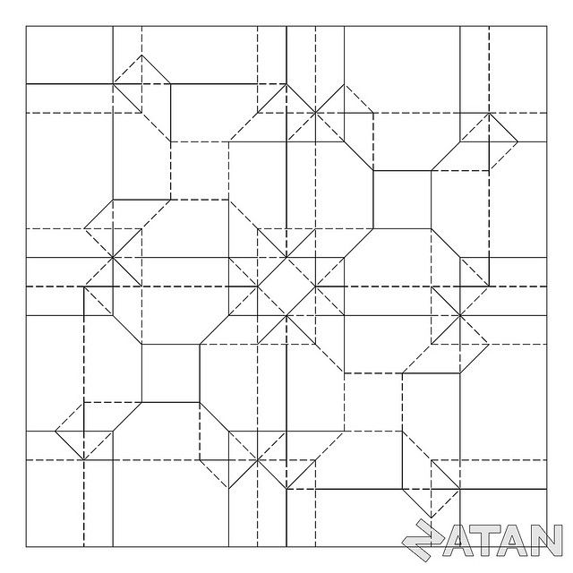 Rectangle tessellations origami Google Search Origami folds