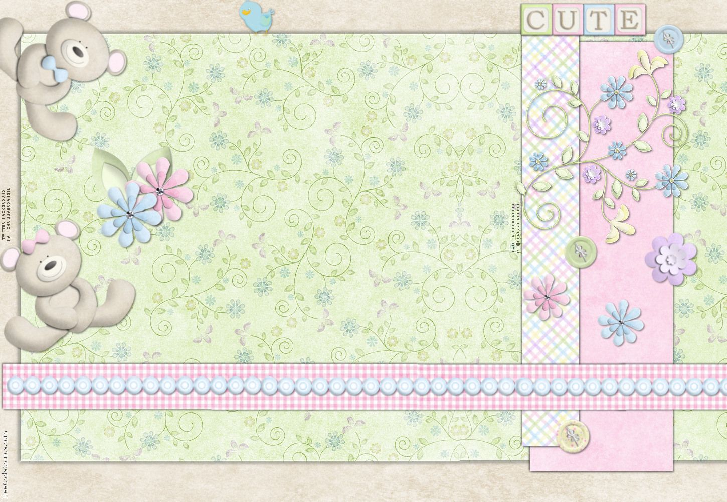 baby page border borders for wallpaper Baby Bears