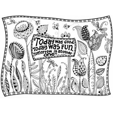 Free Dr. Seuss Garden Coloring Page illustrated by Marie ...